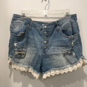 Target Mossimo High-Waisted Denim Jean Shorts 16